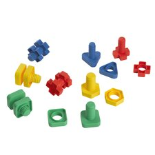 <strong>edushape</strong> Easy-Grip Nuts and Bolts (Set of 48)
