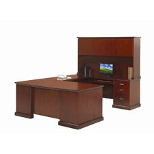 Devon U-Shaped Executive Desk with Right Return and Hutch