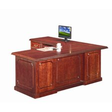 Heritage L-Shaped Executive Desk with Reversible Pedestals