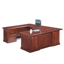 Heritage U-Shaped Executive Desk-Reversible