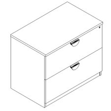 Stellar Two Drawer Lateral File
