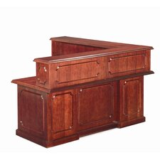 Heritage L-Shaped Reception Executive Desk with Return