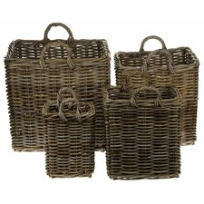 4 Piece Log Basket Set