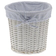 Wastepaper Bin with Gingham Linining