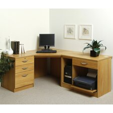 Home Office Solutions Computer Desk with Pedestal and Printer / CPU Storage