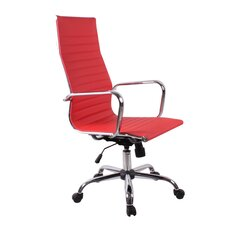 High-Back Synthetic Eco-Leather Executive Swivel Office Chair