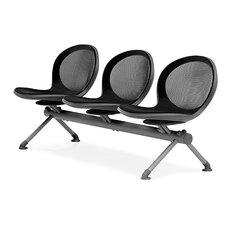 Net Series Mesh Three Chair Beam Seating