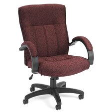 Upholstered Executive Managerial Chair with Arms