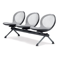 Net Series Mesh Three Chair Beam Seating