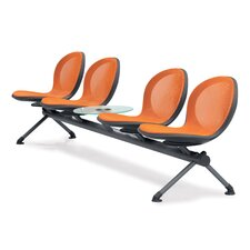 Net Series Four Chair Beam Seating with Table