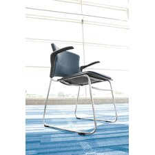 <strong>OFM</strong> Multi Use Vinyl Seat and Back Stacker Chair with Removeable Arms