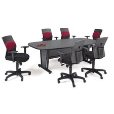 Modular Conference Table with Optional Executive Chairs