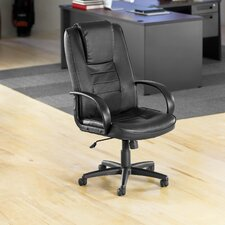 High-Back Leather Promotional Office Chair with Arms