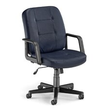 Low-Back Leather Executive Conference Chair with Arms