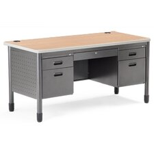 Double Pedestal Teachers Desk