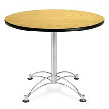 "<strong>OFM</strong> 36"" Round Multi-Purpose Polished Aluminum Table"