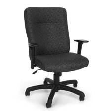 Conference Mid-Back Office Chair with Adjustable Arms