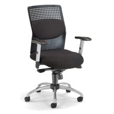 <strong>OFM</strong> AirFlo Back Series Executive Chair with Brushed Metal Accents