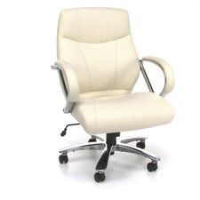 Mid-Back Synthetic Leather Executive Office Chair with Arms