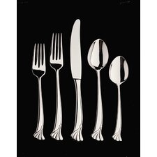 Stainless Steel Ginkgo Leaf 4 Piece Hostess Set