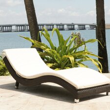<strong>Source Outdoor</strong> Wave Chaise Lounge with Cushion