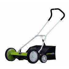 "<strong>GreenWorks Tools</strong> 18"" Reel Mower"