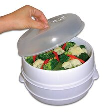 2 Tier Microwave Food Steamer and Cooker
