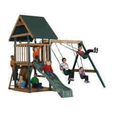<strong>Backyard Play Systems</strong> Wood Boulder Creek Swing Set
