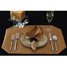 Luscious Silk Table Linens Reversible Wedge Placemat (Set of 2)