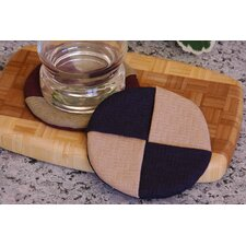 <strong>Pacific Table Linens</strong> Wicker Wine Glass Coaster (Set of 2)