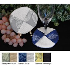 <strong>Pacific Table Linens</strong> Bouquet Wine Glass Coaster (Set of 2)