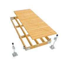 Commercial Grade Stationary Dock with Wood Top