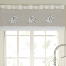 "Elephant Chic 44"" Window Curtain Valance"