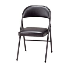 Deluxe Vinyl Padded Folding Chair (Set of 4)