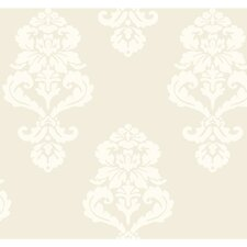 <strong>York Wallcoverings</strong> Graphic Damask Wallpaper