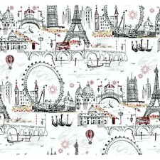 Black and White Novelty Euro Scenic Wallpaper
