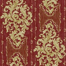 Saint Augustine Embroidered Damask Wallpaper