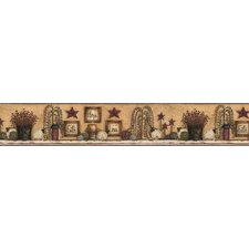 <strong>York Wallcoverings</strong> Welcome Home Faith Hope Love Shelf Border Wallpaper