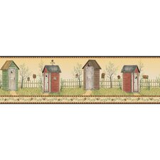 Welcome Home Country Outhouse Border Wallpaper