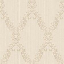 <strong>York Wallcoverings</strong> Riverside Park Damask Frame Wallpaper