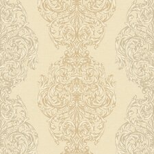 <strong>York Wallcoverings</strong> Heritage Home Ornate Damask Wallpaper