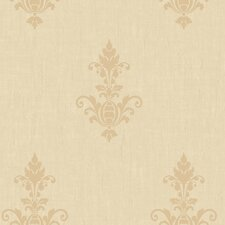 <strong>York Wallcoverings</strong> Heritage Home Raised Damask Medallion Wallpaper