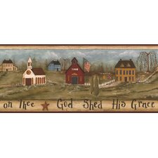 Mural Portfolio II God Shed His Grace On Thee Scenic Border Wallpaper