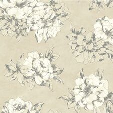 <strong>York Wallcoverings</strong> Watercolor Floral Wallpaper