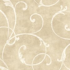 Natural Radiance Delicate Scroll Wallpaper
