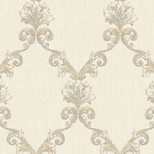 Natural Radiance Belvedere Damask Wallpaper