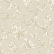 Royal Cottage Feathery Flumes Scroll Wallpaper
