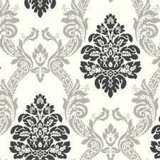 Ogee Damask Wallpaper
