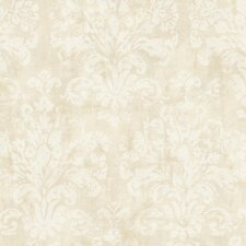 <strong>York Wallcoverings</strong> Windermere Evelyn Damask Distressed Wallpaper
