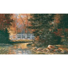 Portfolio II Forest with Weathered Wood Bridge Wall Mural